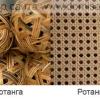 Що таке натуральний і штучний ротанг і ротанговое полотно?