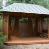 Дизайн літньої альтанки для заміського будинку, фото.