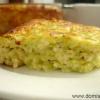 Кабачкова запіканка з сиром зі свіжих кабачків - рецепт з фото.