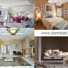 Красивий інтер`єр квартири або будинку і таблиця поєднання кольорів.