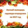 Місячний календар садівника і городника на 2017 рік